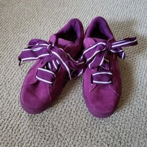Puma Purple Suede Sneakers Special Edition